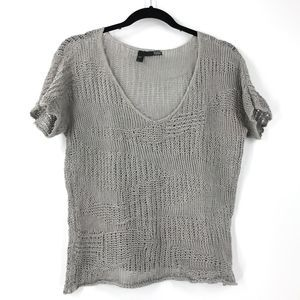Eileen Fisher Top Precious Metal Open Knit